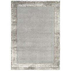 Debenhams - Silver coloured woollen 'Ascot' rug