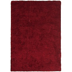 Debenhams - Dark berry red 'Tula' rug