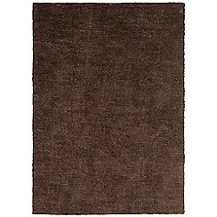 Debenhams - Chocolate brown 'Tula' rug