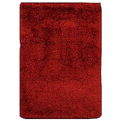 Debenhams - Ruby red 'Cascade' rug