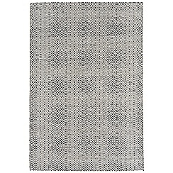 Debenhams - Black and white 'Ives' rug