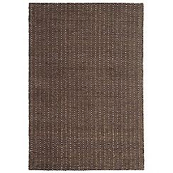 Debenhams - Chocolate brown 'Ives' rug