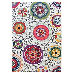 Debenhams - Multi-coloured light patchwork 'Colores' rug