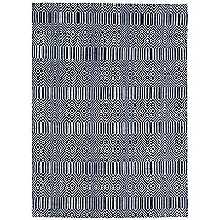 Debenhams - Blue woollen 'Sloane' rug