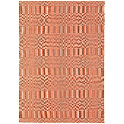 Debenhams - Orange woollen 'Sloane' rug
