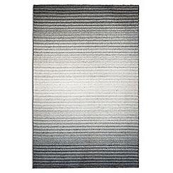 Debenhams - Thin stripe woollen 'Greyscale' rug