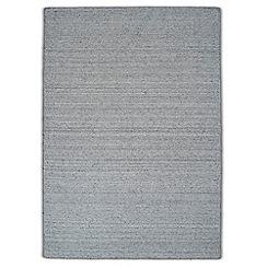 Debenhams - Plain woollen 'Greyscale' rug