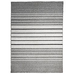 Debenhams - Wide stripe woollen 'Greyscale' rug