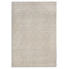 Debenhams - Beige wool 'Maisey' rug