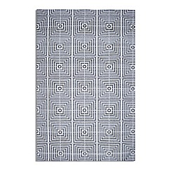 Debenhams - Black woollen 'Be Square' rug