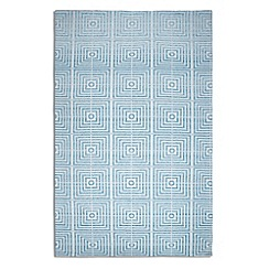 Debenhams - Blue woollen 'Be Square' rug