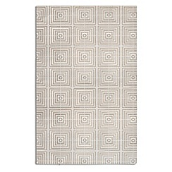 Debenhams - Beige woollen 'Be Square' rug
