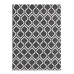Debenhams - Black woollen 'Medina' rug