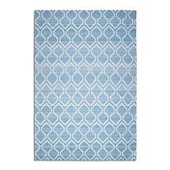 Debenhams - Blue woollen 'Medina' rug