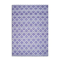 Debenhams - Purple woollen 'Medina' rug