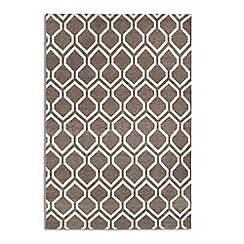 Debenhams - Brown woollen 'Medina' rug