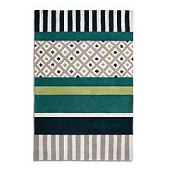 Debenhams - Green wool 'Undecided' rug
