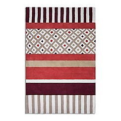 Debenhams - Red wool 'Undecided' rug