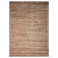 Debenhams - Brown wool 'Oceans' rug