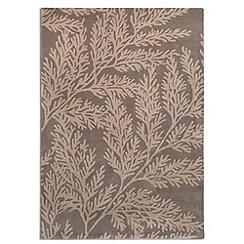 Plantation Rugs - Taupe wool 'Leaf' rug