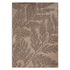 Debenhams - Brown wool 'Leaf' rug