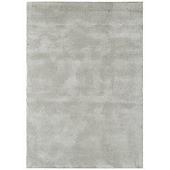 Debenhams - Grey woollen 'Aran' rug