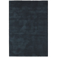 Debenhams - Dark blue woollen 'Aran' rug
