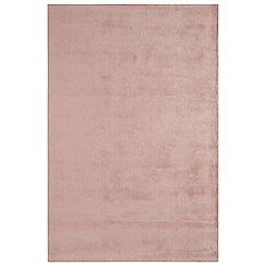 Debenhams - Pink woollen 'Aran' rug