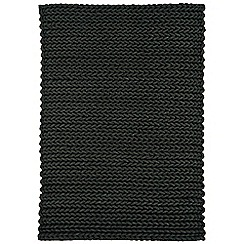 Debenhams - Dark grey wool 'Helix' rug