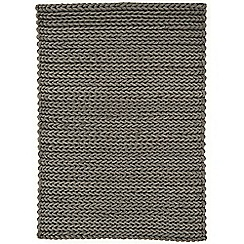 Debenhams - Grey wool 'Helix' rug