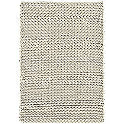 Debenhams - Cream wool 'Helix' rug