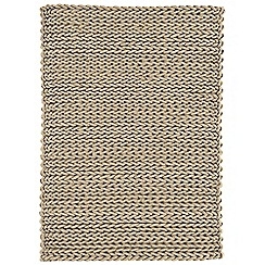 Debenhams - Taupe wool 'Helix' rug