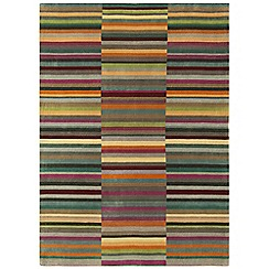 Debenhams - Multi-coloured wool 'Luca' rug