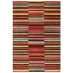 Debenhams - Red wool 'Luca' rug
