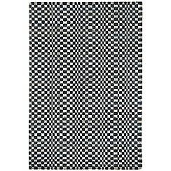 Debenhams - Charcoal grey woollen 'Oska' rug