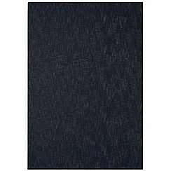 Debenhams - Charcoal grey wool 'Tweed' rug