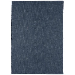 Debenhams - Dark blue wool 'Tweed' rug