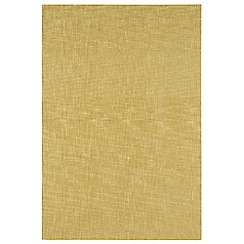 Debenhams - Yellow wool 'Tweed' rug