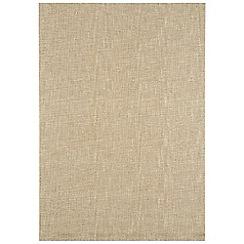 Debenhams - Beige wool 'Tweed' rug