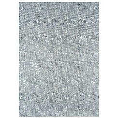 Debenhams - Silver grey wool 'Tweed' rug