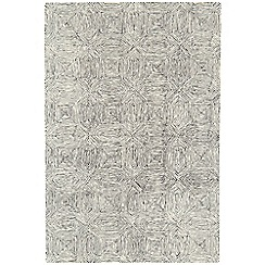 Debenhams - Black and white woollen 'Camden' rug