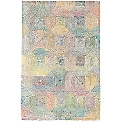 Debenhams - Cream and multi-coloured woollen 'Camden' rug