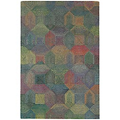 Debenhams - Grey and multi-coloured woollen 'Camden' rug