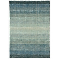 Debenhams - Blue wool and cotton 'Hays' rug