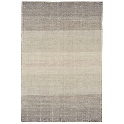 Debenhams - Charcoal grey wool and cotton 'Hays' rug