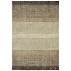 Debenhams - Brown wool and cotton 'Hays' rug
