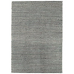 Debenhams - Blue wool and cotton 'Linden' rug