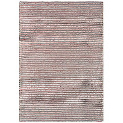 Debenhams - Red wool and cotton 'Linden' rug