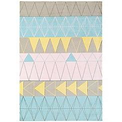 Debenhams - Pink 'Boca Stockholm' rug