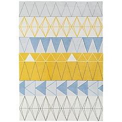 Debenhams - Blue 'Boca Stockholm' rug